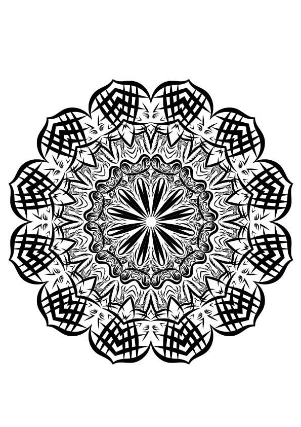 drachen mandala zum ausmalen  ausmalbilder