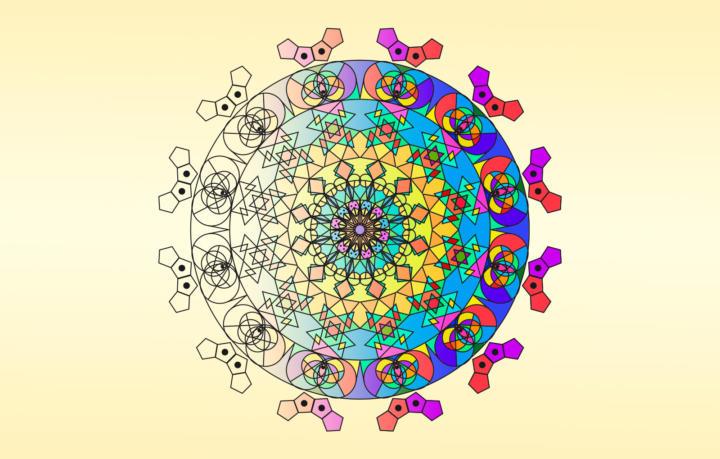 Titelbild für Mandala zum entspannen - 3 wundervolle Vorlagen Teil 1