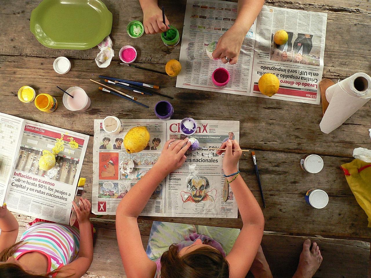 8 Kreative Ideen Zum Basteln Und Malen Mit Kindern Diy Family