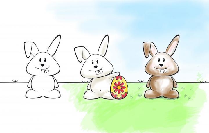 7 lustige DIY-Malvorlagen zu Ostern als Download