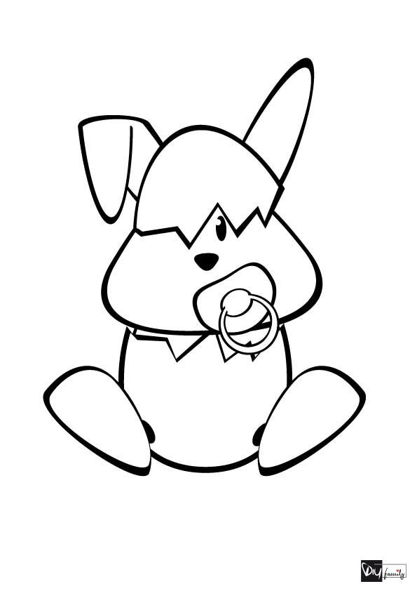 Malvorlagen Babyhase