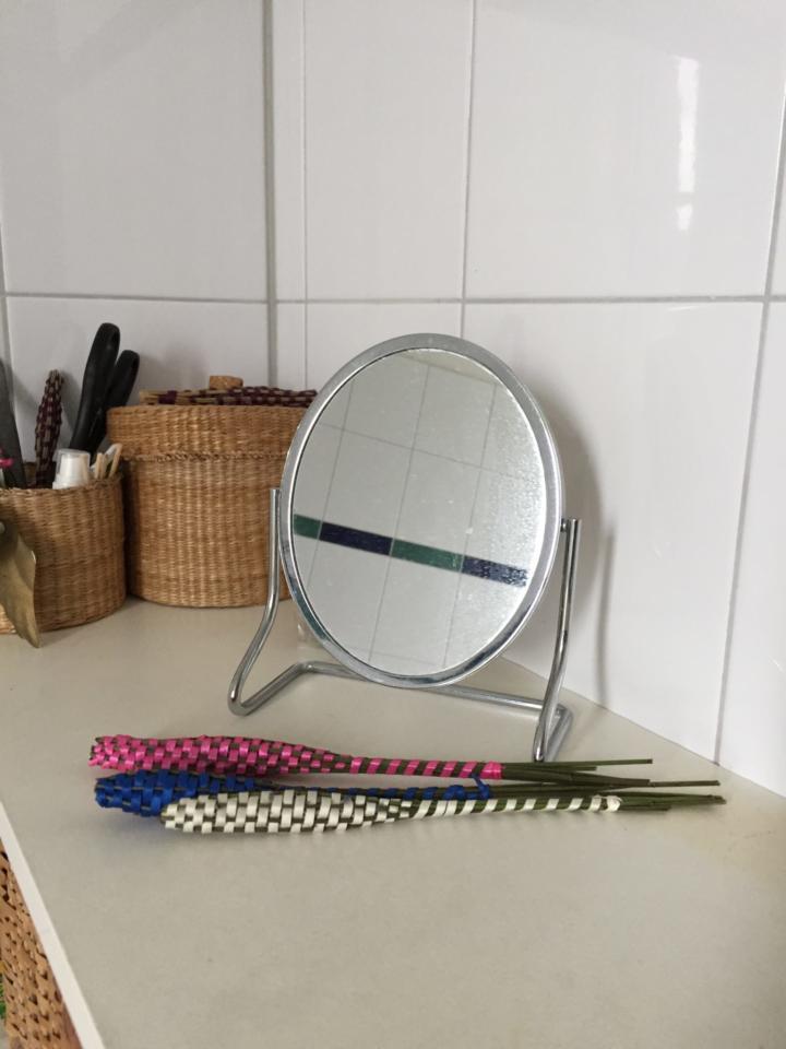Duftender Lavendelstab im Badezimmer