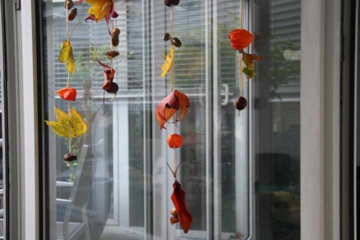Herbstliche Girlanden zum Dekorieren und Verschönern