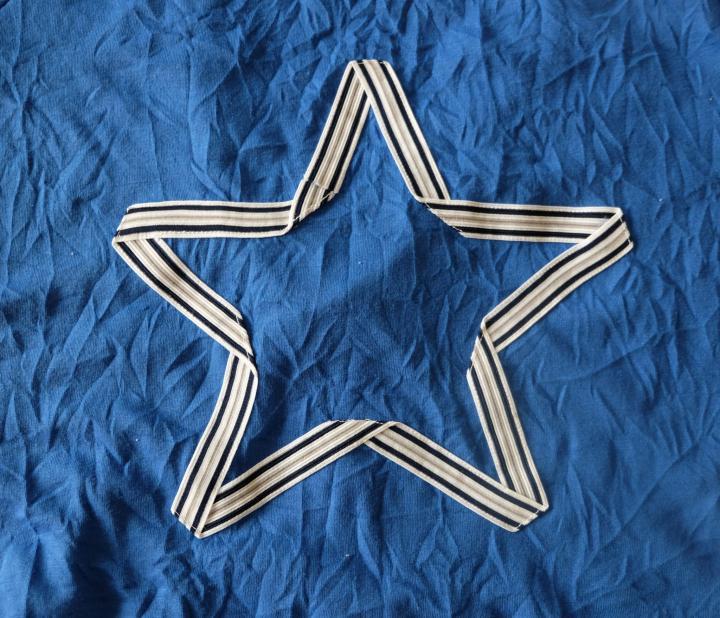 Stern Zierstoff Blau