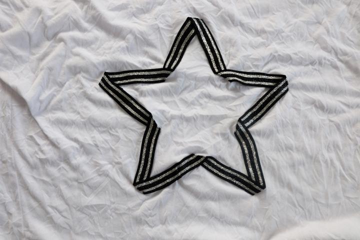 Stern Zierstoff Weiß