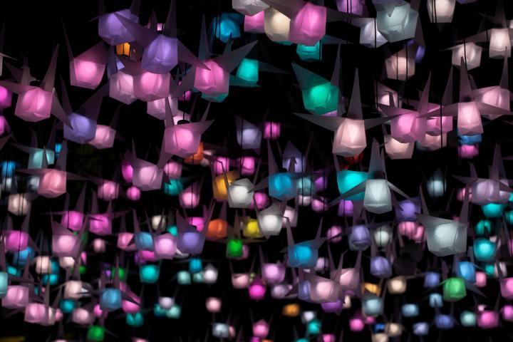 Sankt Martin - 5 DIY Laternen mit Ballons