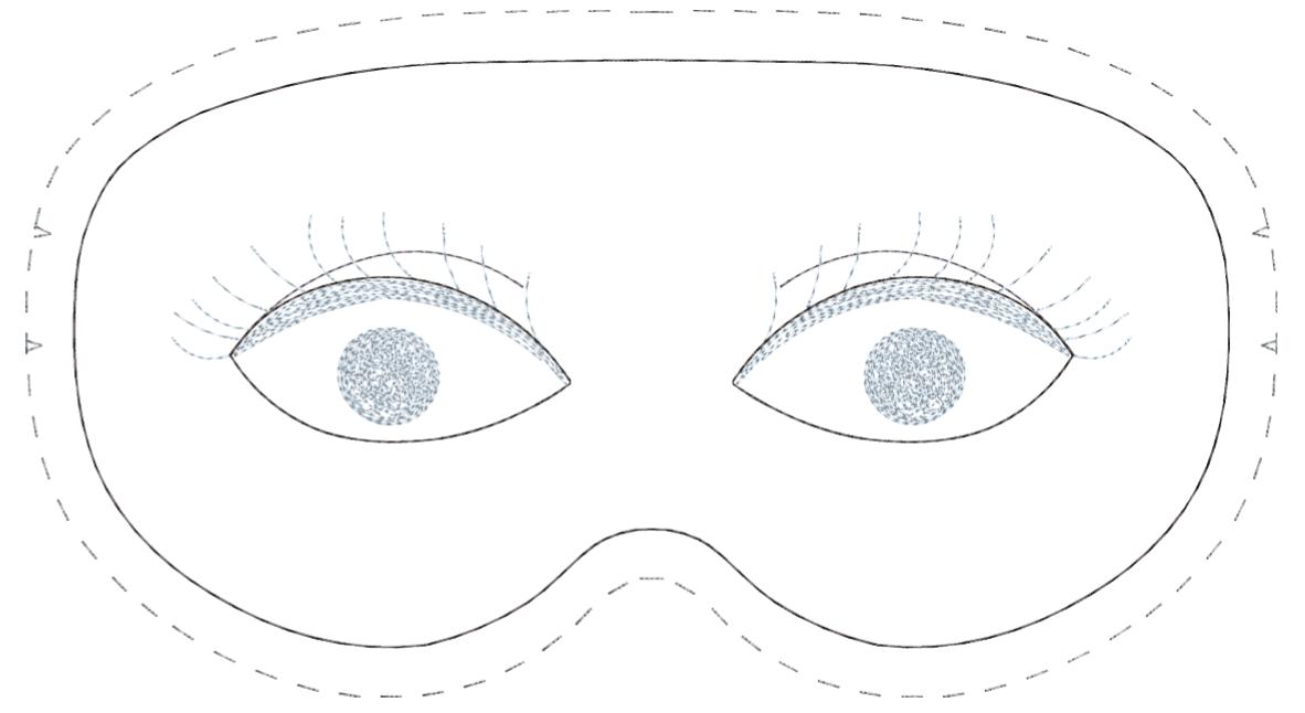 Sleep Mask Pattern Sleepover Invitations 2