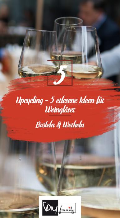 Upcycling: Kerzenhalter aus kaputtem Weinglas | Weinglas