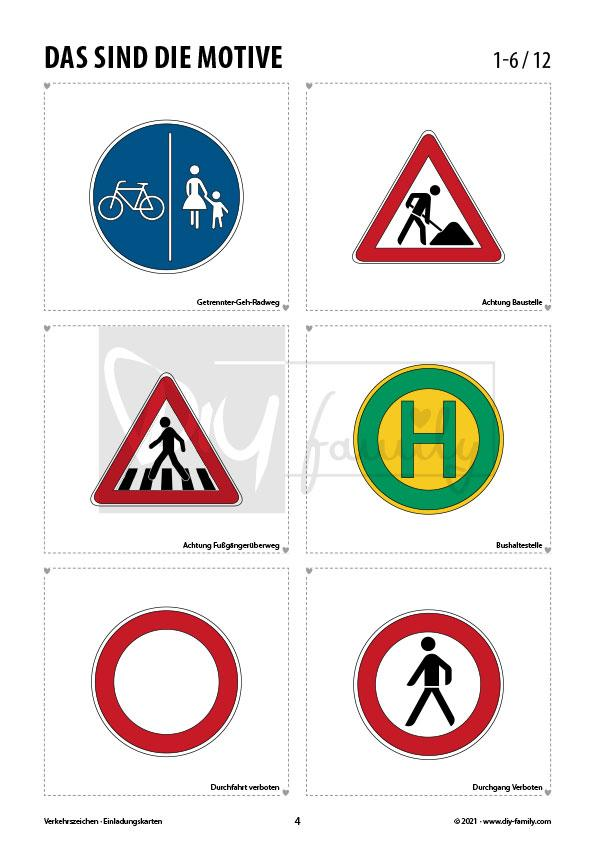 Verkehrszeichen 2 – Einladungskarten