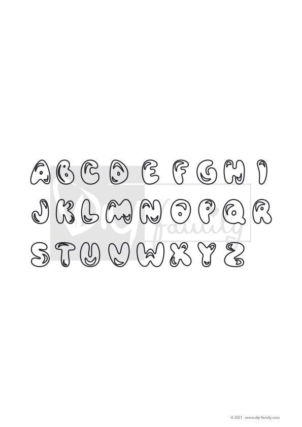 ABC – Einzelausmalvorlage