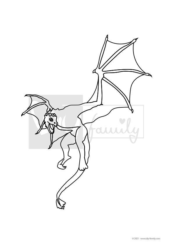 Drachen – Einzelausmalvorlage