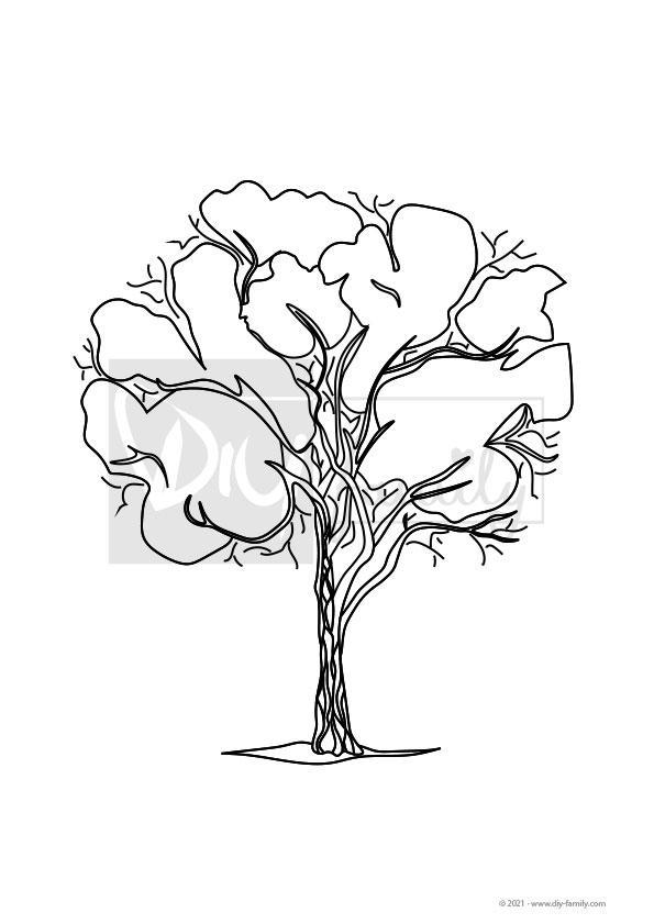 Eukalyptusbaum – Einzelausmalvorlage