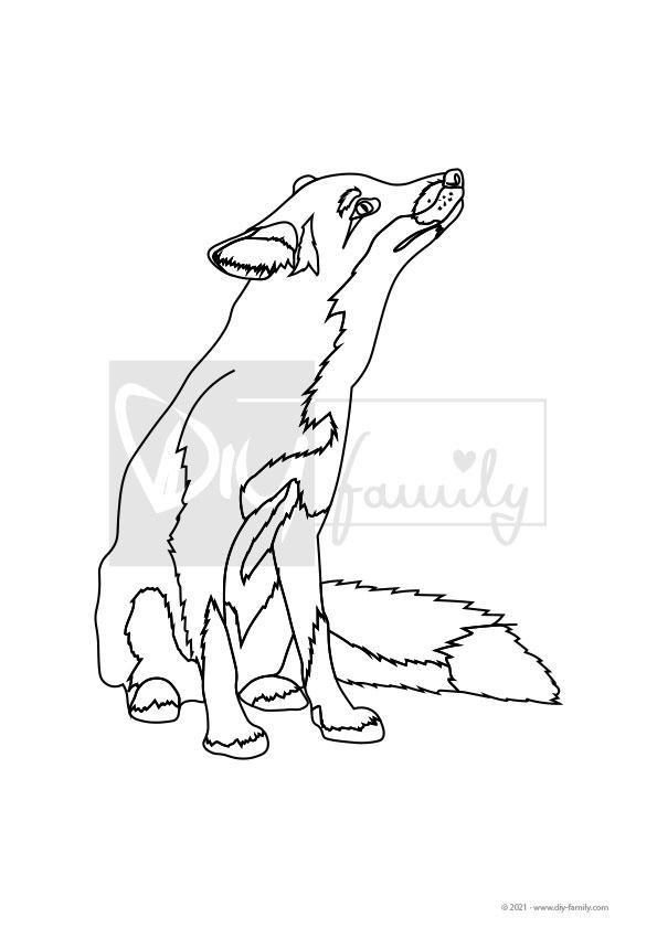 Fuchs – Einzelausmalvorlage