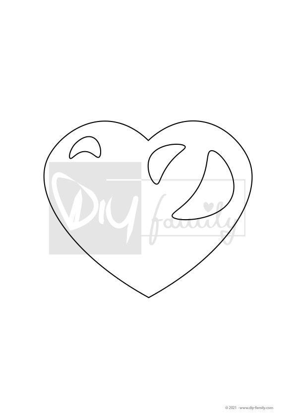 Herz – Einzelausmalvorlage