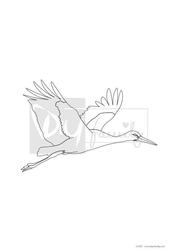 Klapperstorch – Einzelausmalvorlage