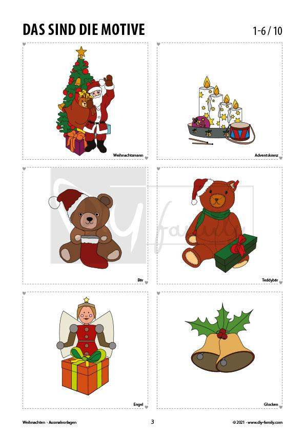 Weihnachten – Ausmalvorlagen Sammlung