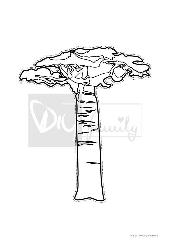 Bäume – Motive zum Ausmalen, Ausschneiden und Aufkleben