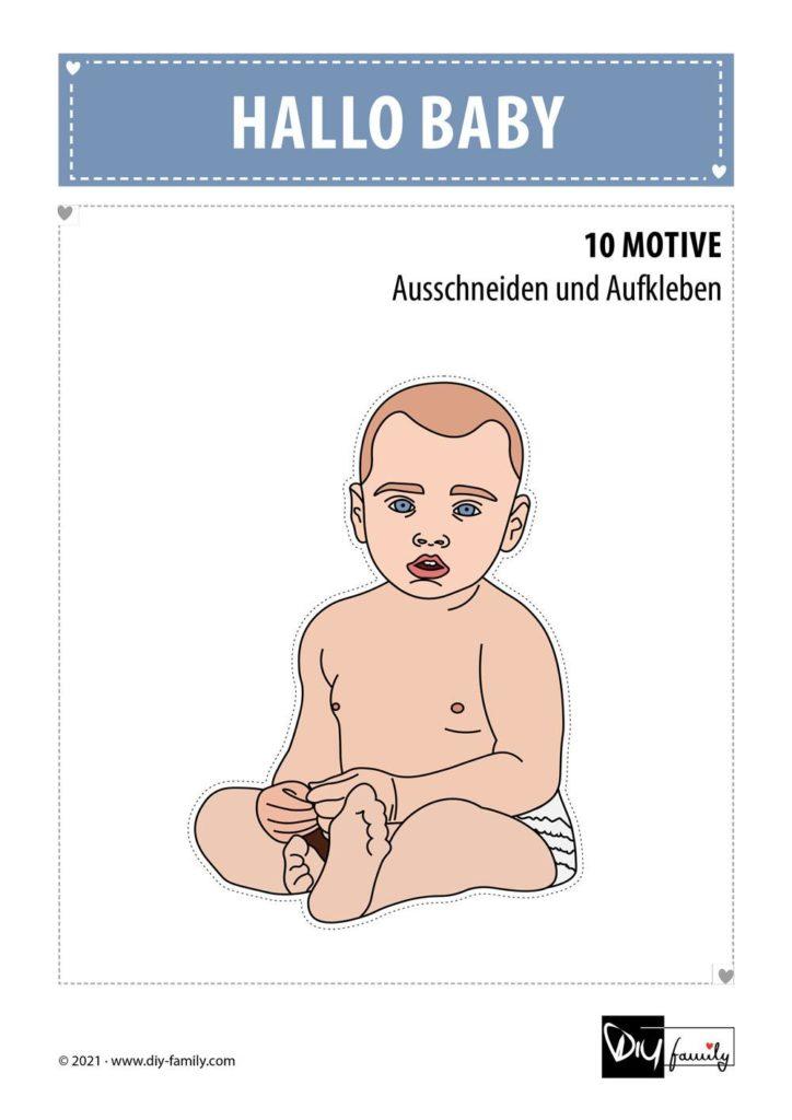 Baby – Motive zum Ausschneiden und Aufkleben