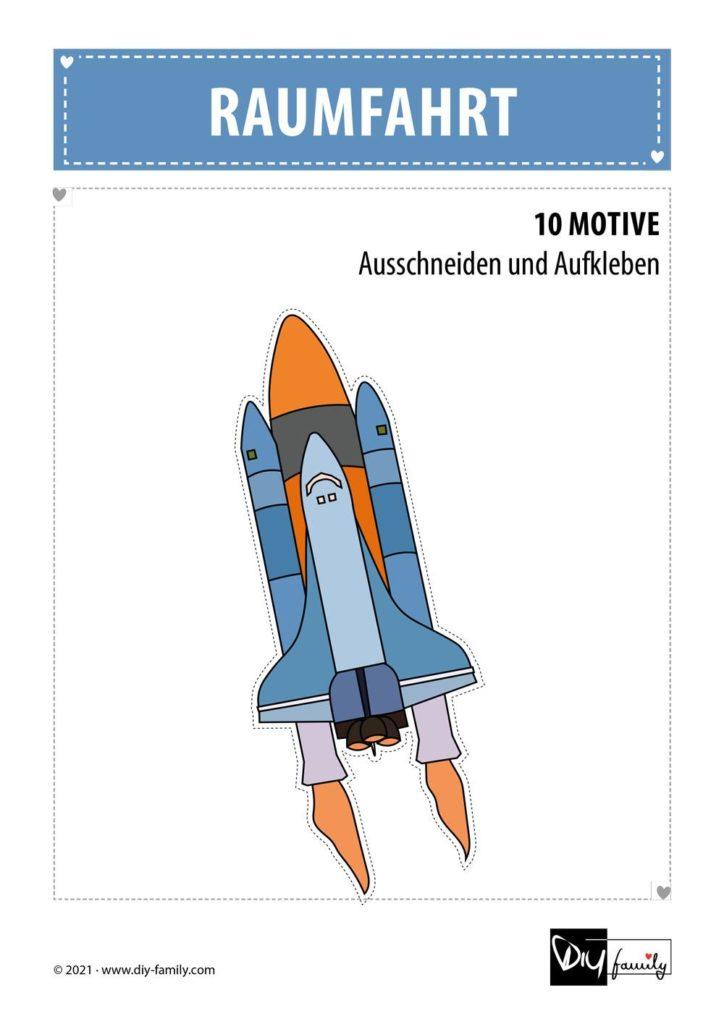 Raumfahrt – Motive zum Ausschneiden und Aufkleben