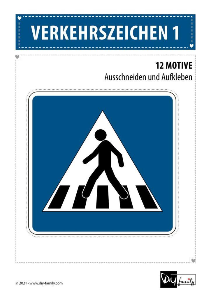Verkehrszeichen 1 – Motive zum Ausschneiden und Aufkleben