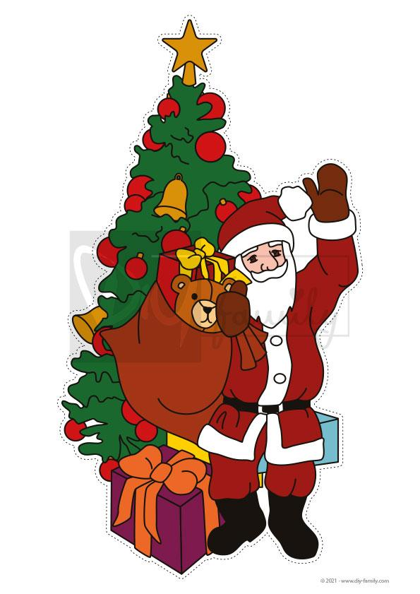 Weihnachten – Motive zum Ausschneiden und Aufkleben