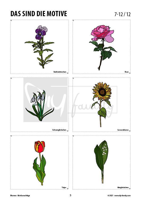 Briefumschläge Blumen