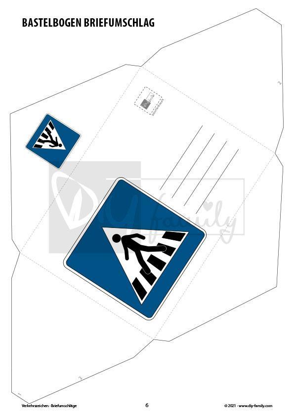 Briefumschläge Verkehrszeichen 1