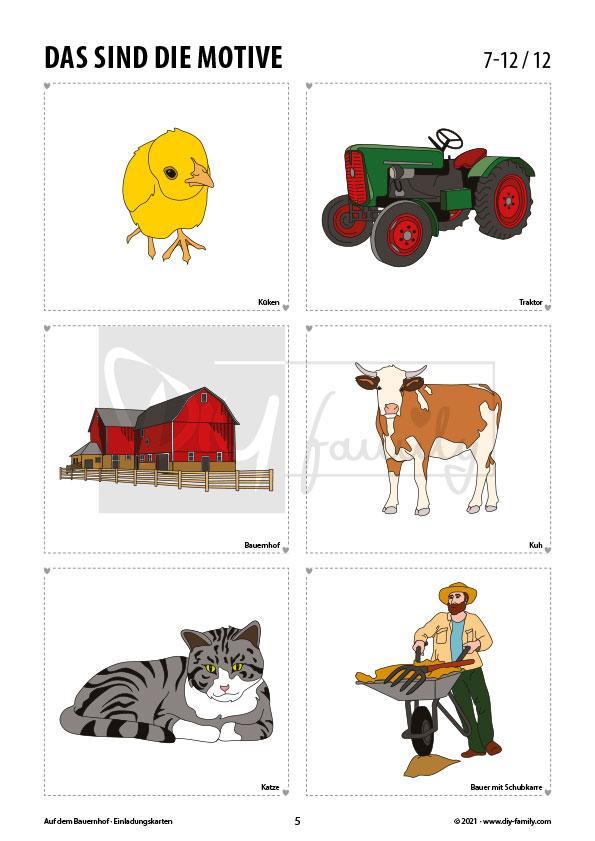 Bauernhof 1 – Einladungskarten