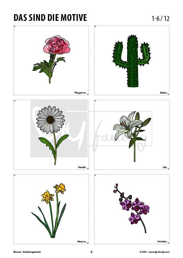 Blumen – Einladungskarten