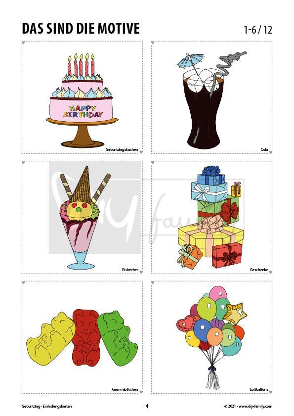 Geburtstag – Einladungskarten