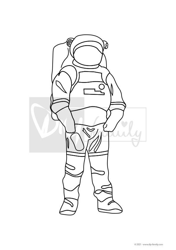 Astronaut – Einzelausmalvorlage