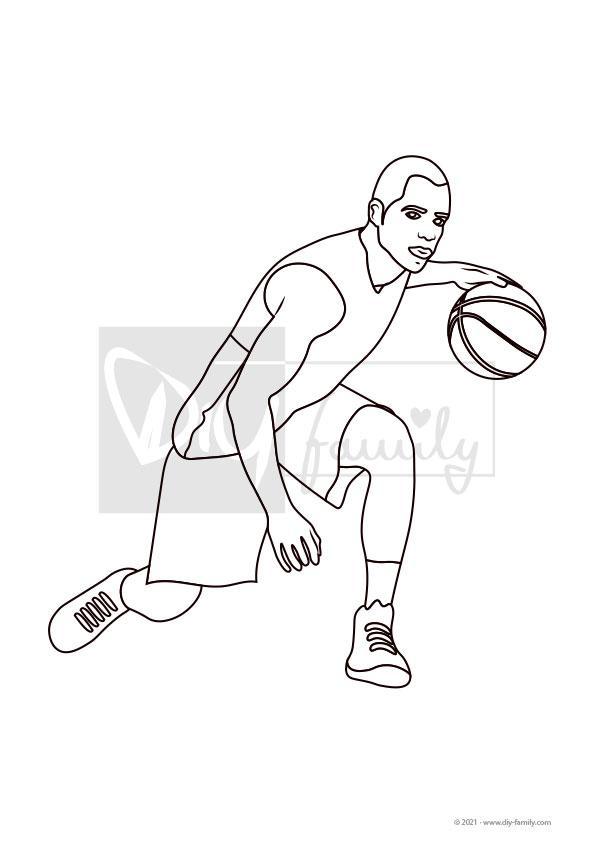 Basketball – Einzelausmalvorlage