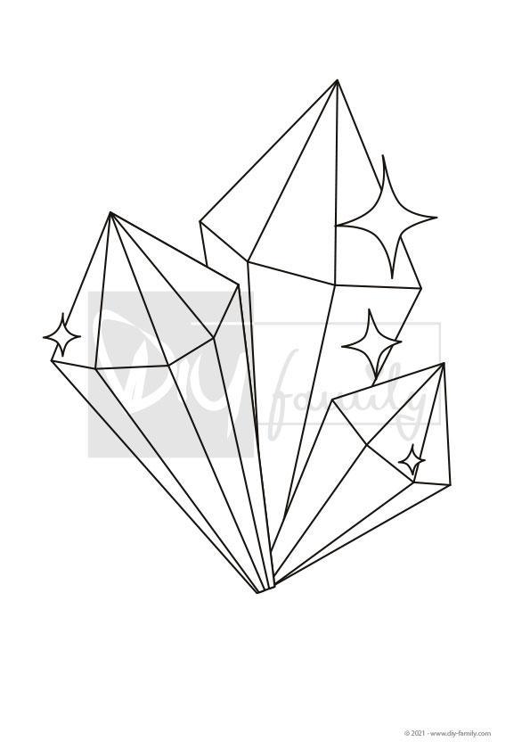 Edelsteine – Einzelausmalvorlage