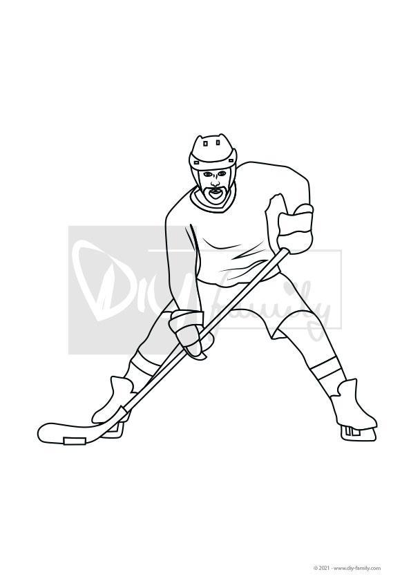 Eishockey – Einzelausmalvorlage