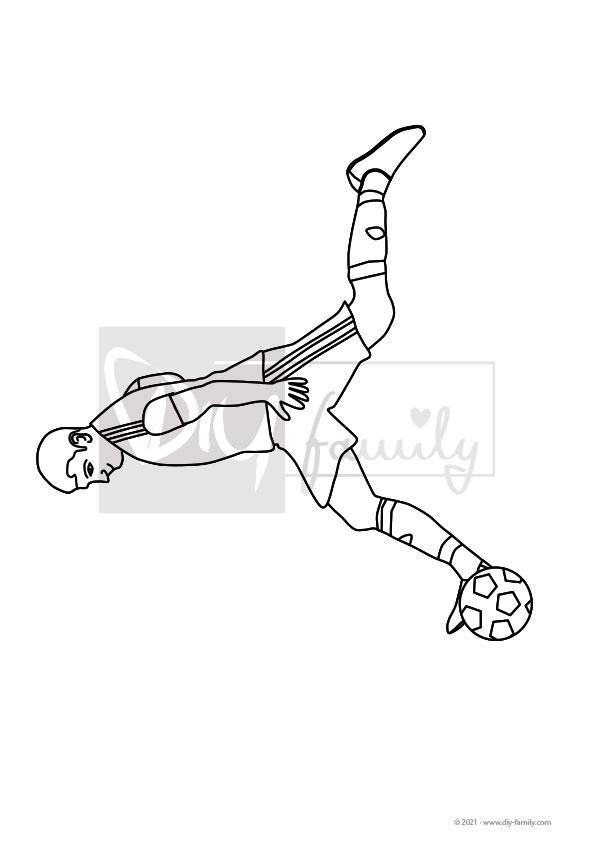 Fußball – Einzelausmalvorlage