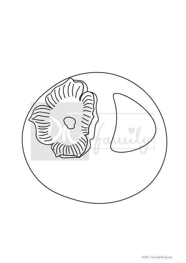 Kaki – Einzelausmalvorlage