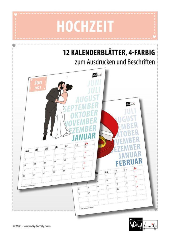 Hochzeit – Kalender 2021