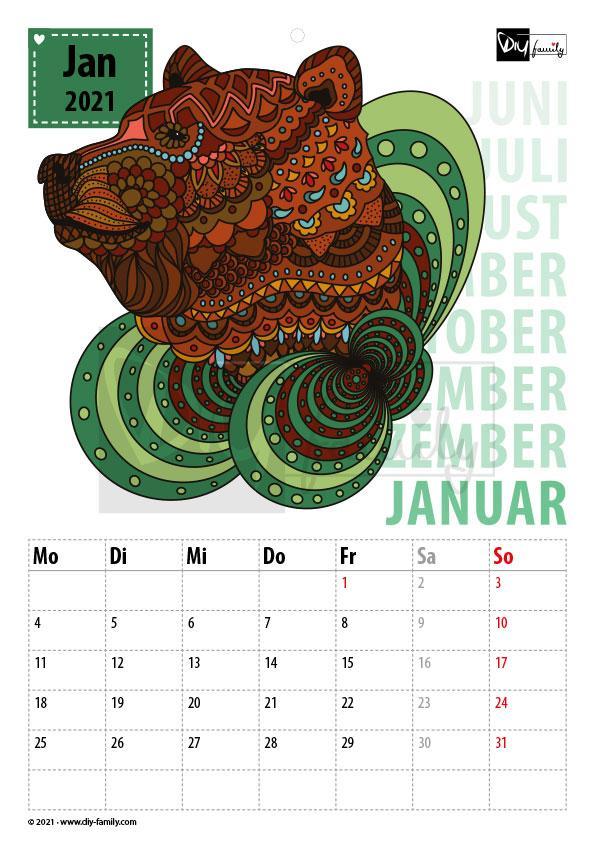 Mandalas – Kalender 2021