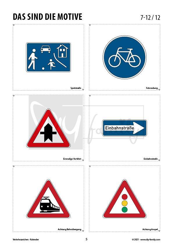 Verkehrszeichen 1 – Kalender 2021