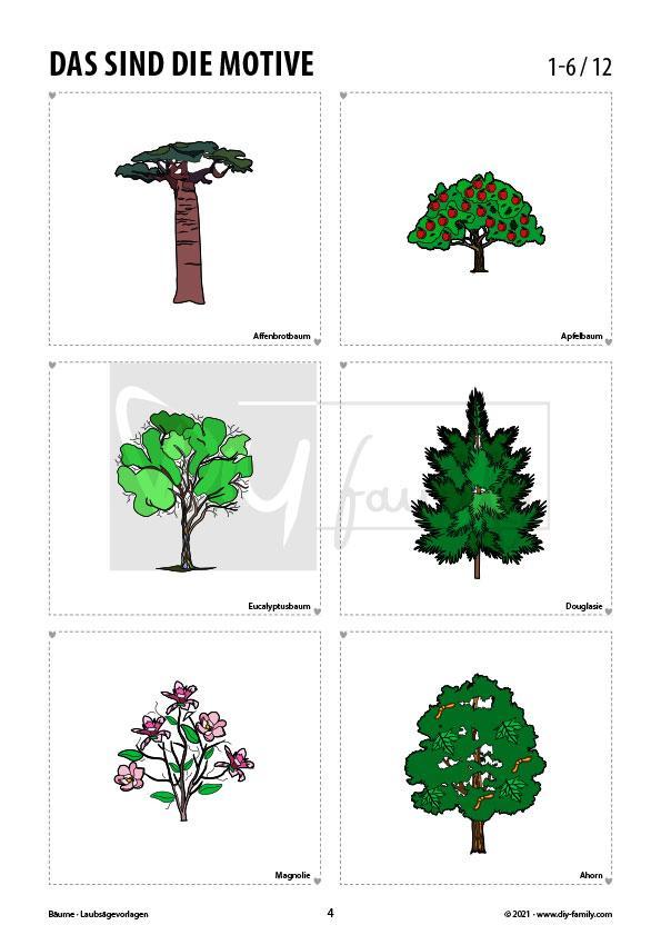 Bäume – Laubsägevorlagen