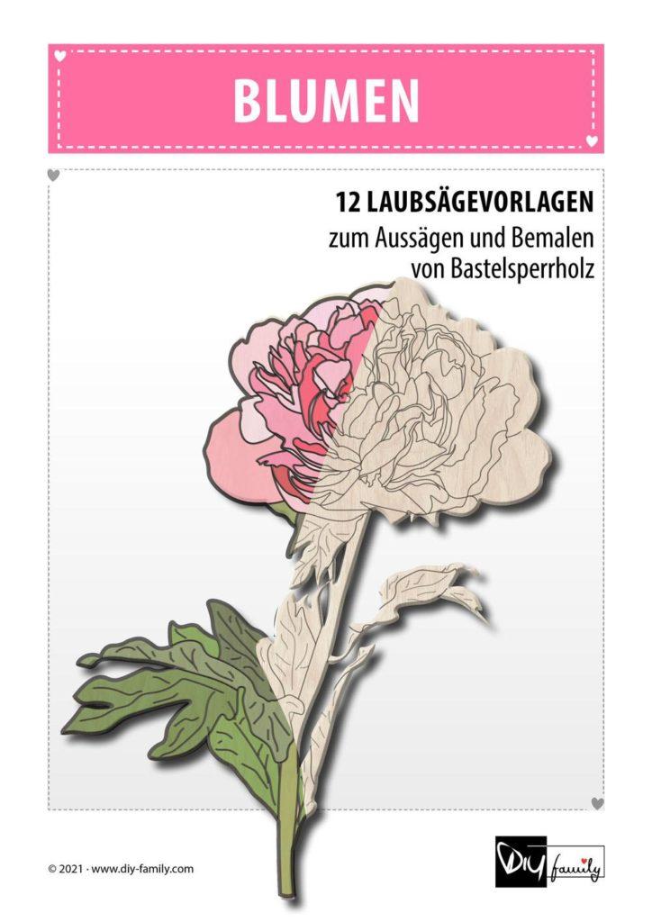 Blumen – Laubsägevorlagen