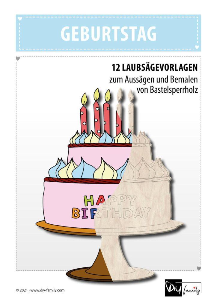 Geburtstag – Laubsägevorlagen