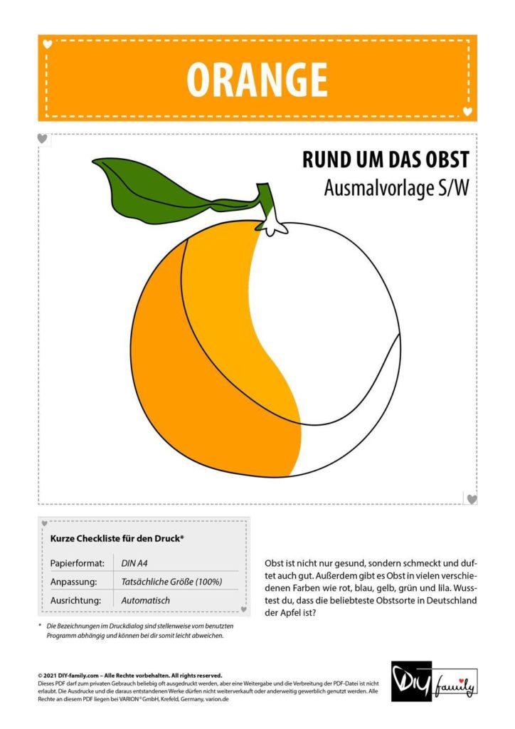 Orange – Einzelausmalvorlage