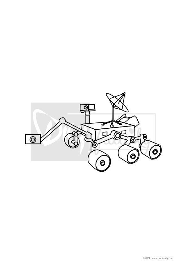 Marsrover – Einzelausmalvorlage