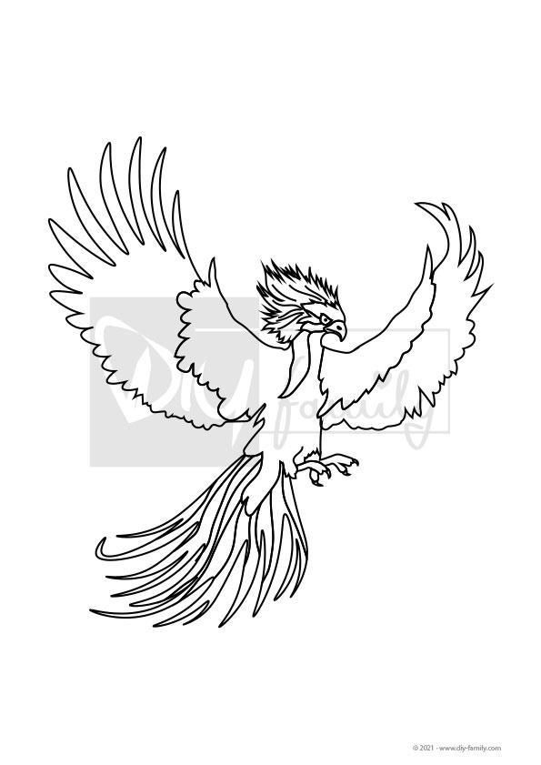 Phoenix – Einzelausmalvorlage