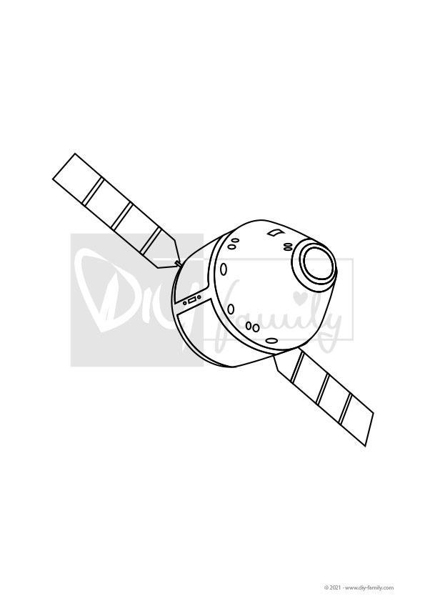 Raumkapsel – Einzelausmalvorlage
