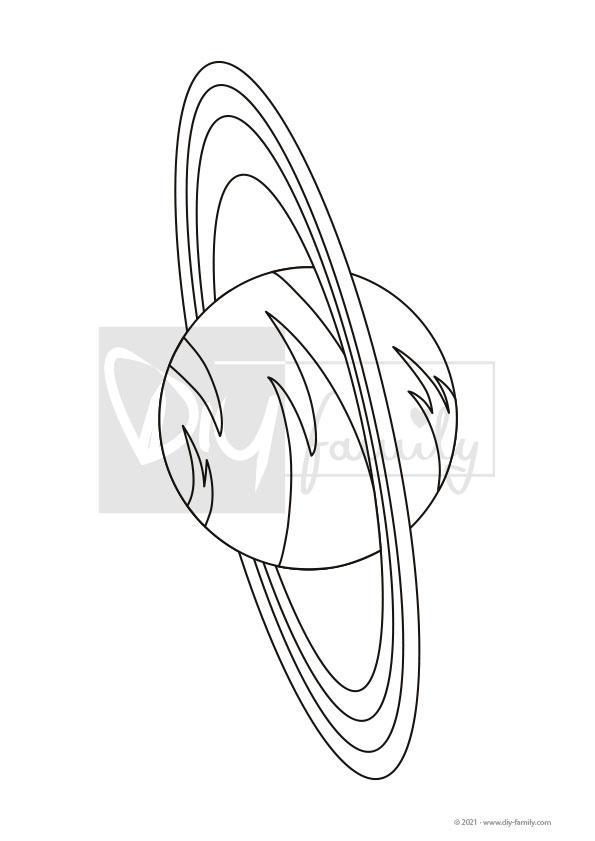 Saturn – Einzelausmalvorlage