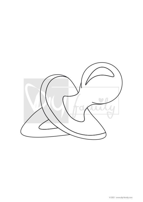 Schnuller – Einzelausmalvorlage
