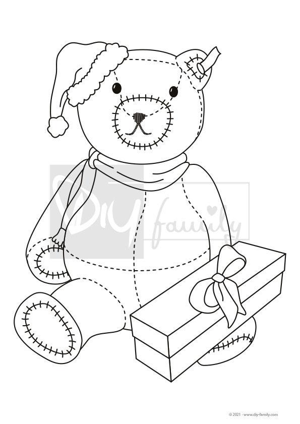 Teddybär – Einzelausmalvorlagen