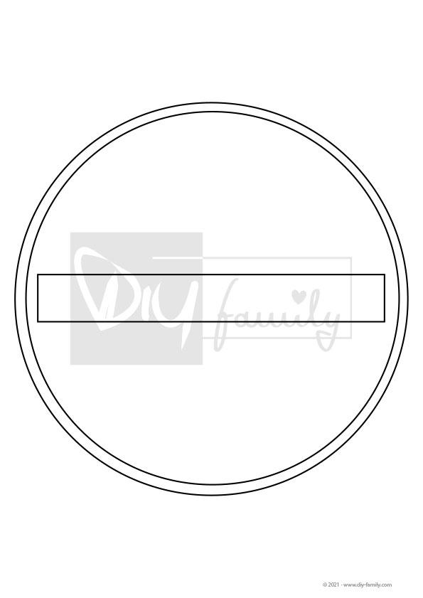 Verbot der Einfahrt – Einzelausmalvorlagen